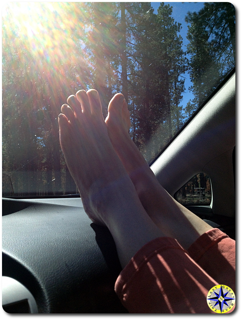 relaxing on the drive