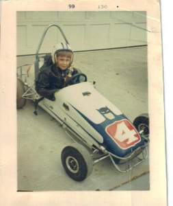Brother in quarter midget race car