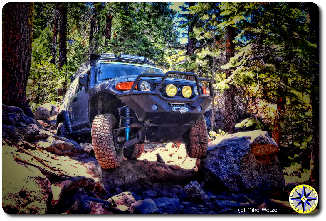 fj cruiser rubicon trail rock crawling