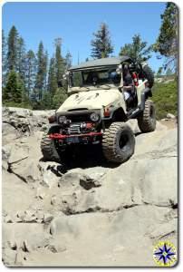 fj 40 on Rubicon trail