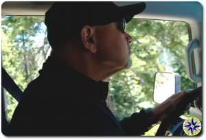 Brad driving rubicon