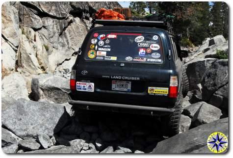 off-road stickers toyota fj80 rubicon trail little sluice
