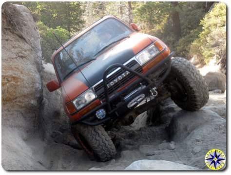 toyota fj80 on rubicon trail