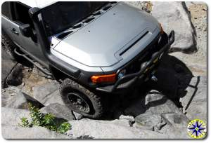 blown tire bead on rubicon trail