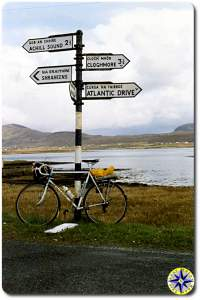 Ireland road signs bike