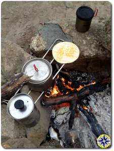 cooking over open fire