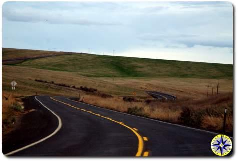 winding road through hills