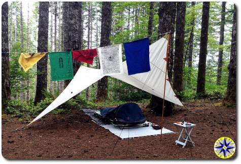 prayer flag tent camping