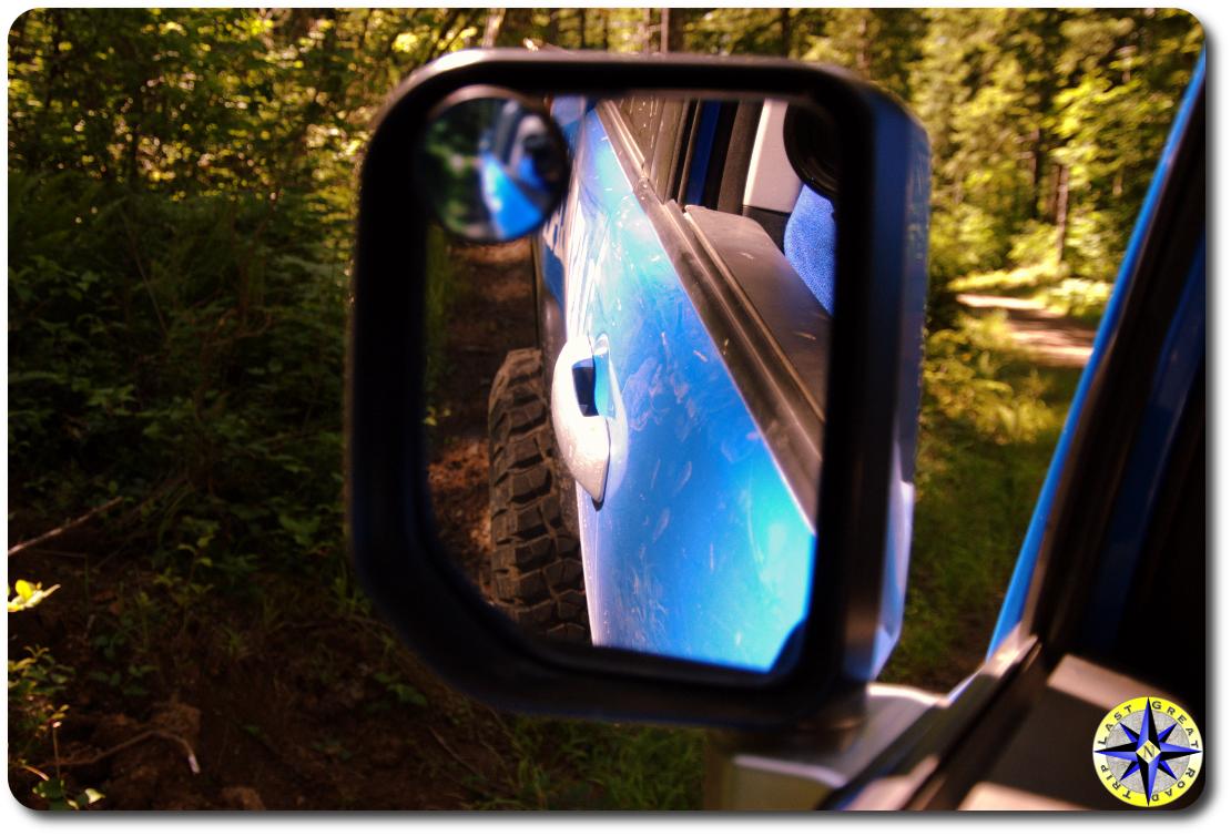 toyota fj cruiser mirror reflection