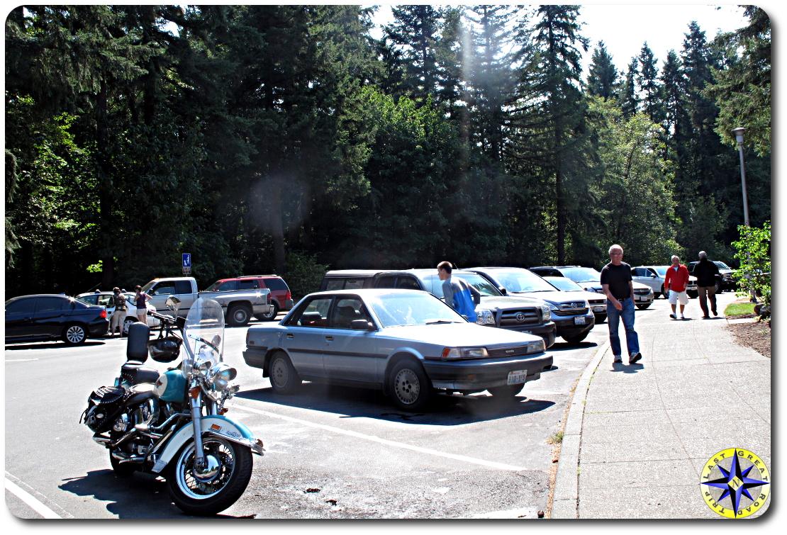 rest stop parking lot