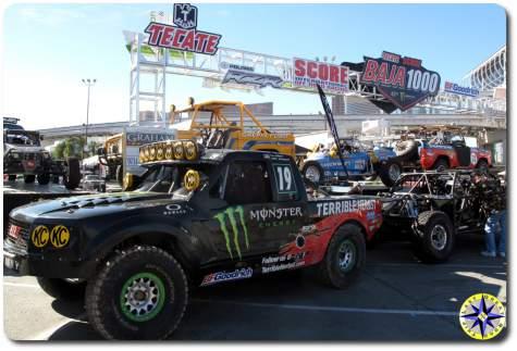 baja 1000 trophy trucks sema 2014