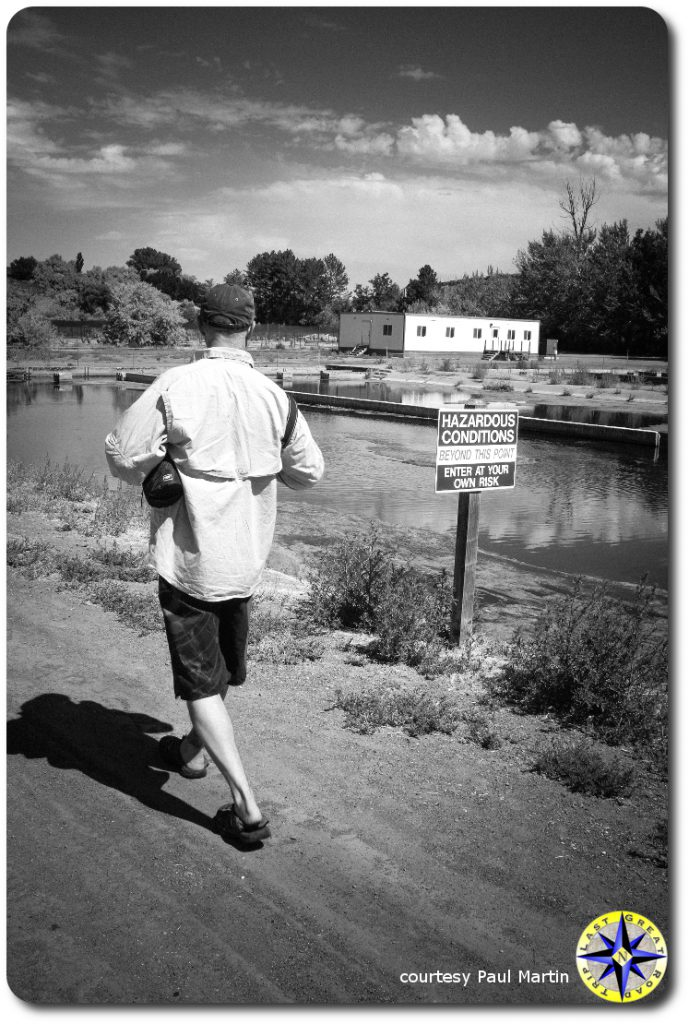 walking past hazardous conditions sign
