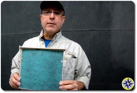man holding fj cruiser cabin air filter