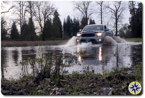toyota tacoma water crossing