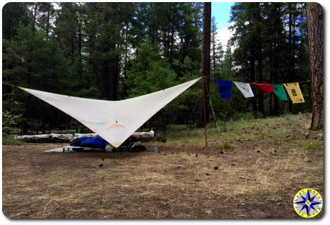 noha tarp camp shelter prayer flags