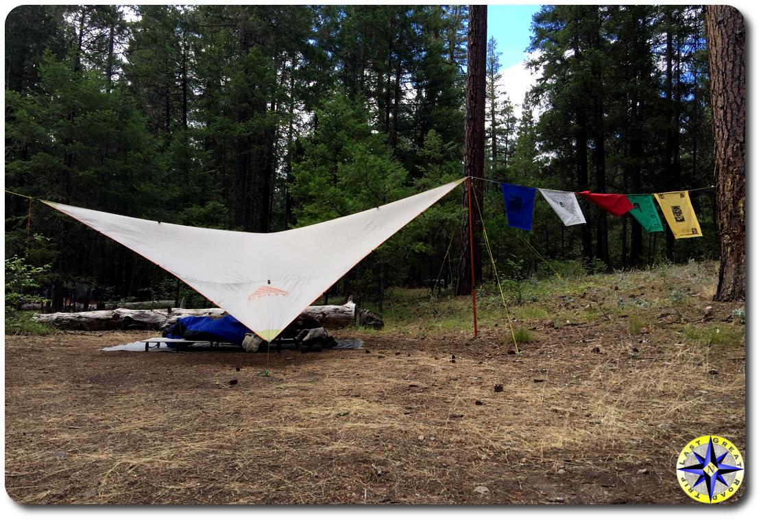 noha tarp camp shelter prayer flags