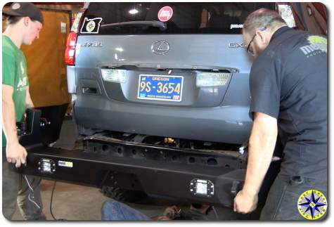 install lexus gx470 rear bumper