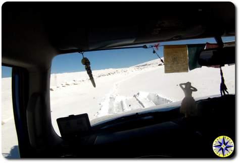 POV driving in snow