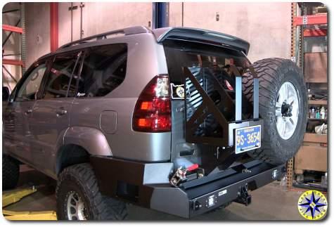lexus gx470 rear swing-out bumper